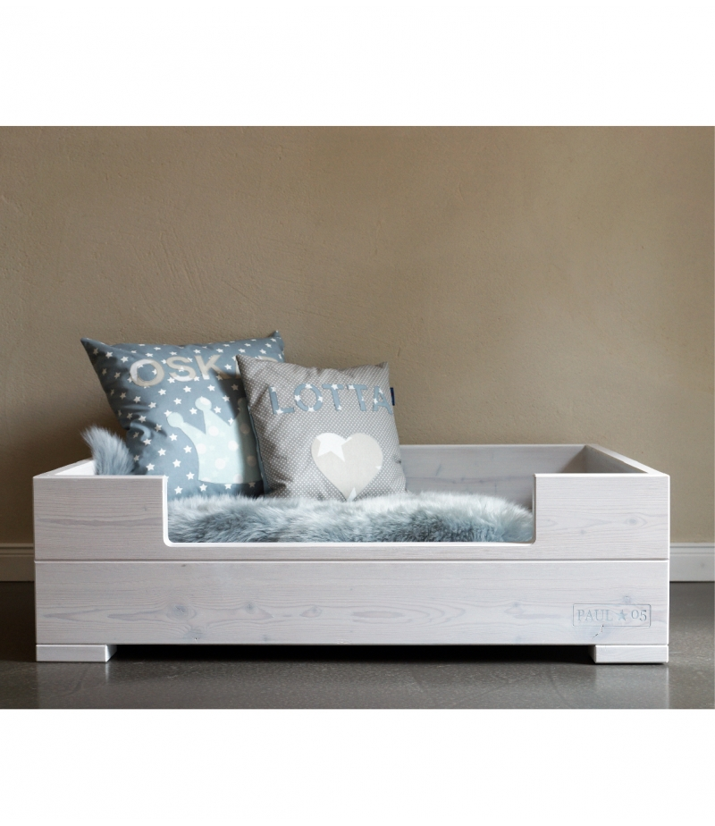 hundekorb lasur wei paul. Black Bedroom Furniture Sets. Home Design Ideas