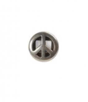 Charm versilbert - Peace