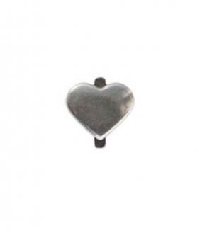 Charm versilbert - Bold Heart