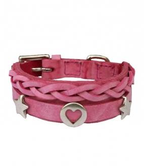 Grundhalsband Pink 2,5cm