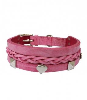 Grundhalsband Pink 4,0cm